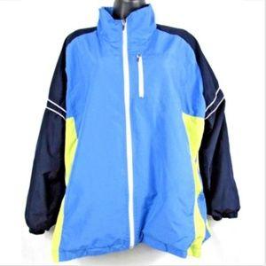 JMS Womens 16W Full Zip Nylon Windbreaker Jacket